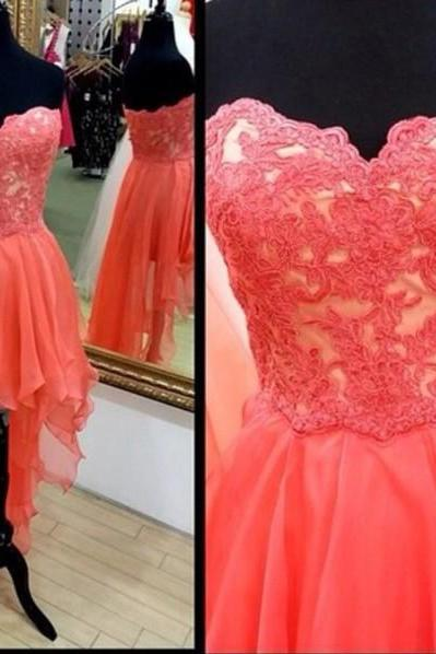 High low Prom Dresses, Strapless Prom Dresses, High low Prom Dress, Prom Dress 2016