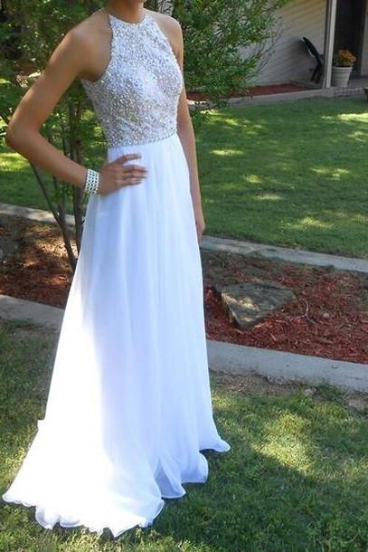 Prom Dresses 2016, Chiffon Prom Dress,Beading Prom Dress, Long Prom Dresses, Evening Gowns