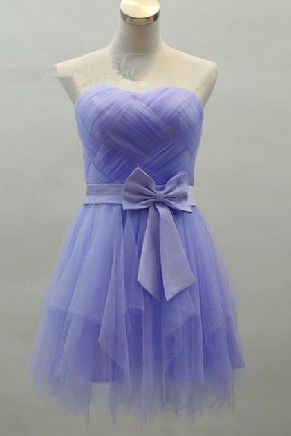 Light Purple Prom Dresses,Short Homecoming Dress